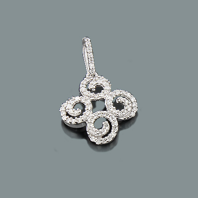 Ladies Diamond Swirl Pendant 0.26ct 14K Gold ladies-diamond-swirl-pendant-026ct-14k-gold_1