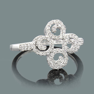 Ladies Diamond Swirl Ring 0.29ct 14K Gold