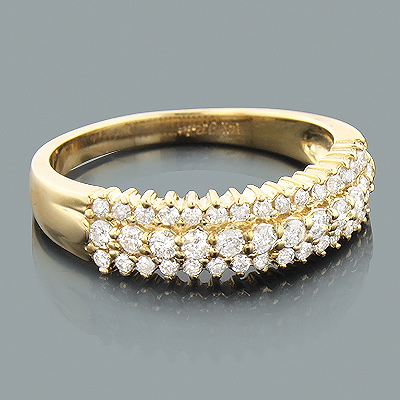 Thin Ladies Diamond Wedding Band 0.70ct 14K