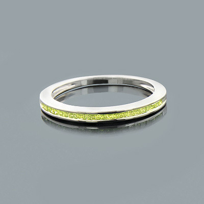 Ultra Thin Ladies Green Diamond Wedding Band in Sterling Silver 0.25ct ladies-green-diamond-wedding-band-in-sterling-silver-025ct_1