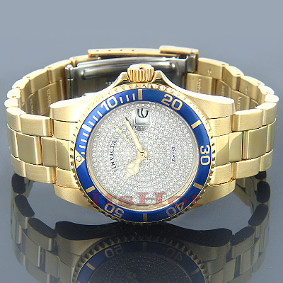 Ladies Invicta Watches Pro Diver Diamond Watch 1.50ct Main Image