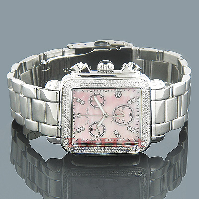 Ladies Joe Rodeo Madison Diamond Watch Pink MOP 1.50ct Main Image