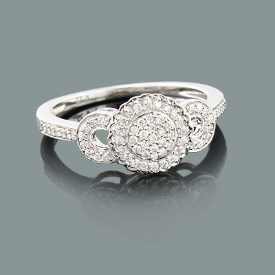 Ladies Pave Diamond Engagement Ring 0.27ct 10K  ladies-pave-diamond-engagement-ring-027ct-10k_1
