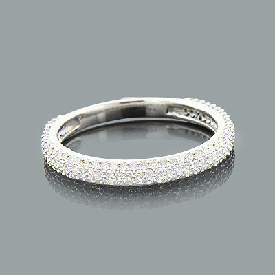 eternity handmade anniversary micro gold bands diamond wedding carat white half thin band ring pave