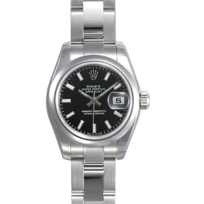 Ladies ROLEX Oyster Watch Perpetual Datejust Black Main Image