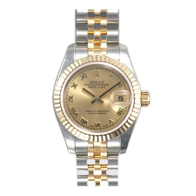 Ladies ROLEX Oyster Watch Perpetual Datejust Champagne Main Image