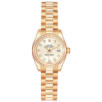 Ladies ROLEX Oyster Watch Perpetual Datejust Pink Main Image