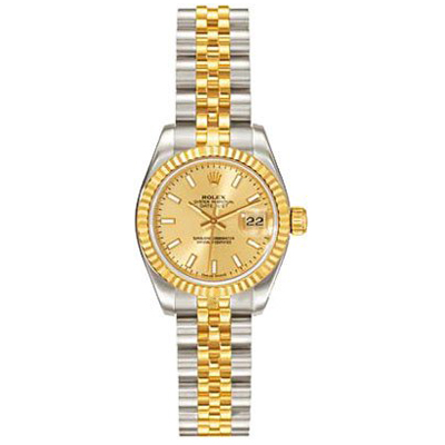 Ladies ROLEX Oyster Watch Perpetual Datejust Two-Tone Main Image