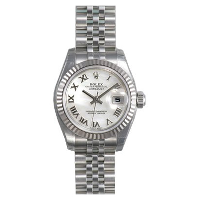 Ladies ROLEX Oyster Watch Perpetual Datejust White Main Image