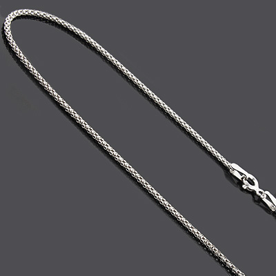 "Ladies Sterling Silver Chains: Fancy Box Chain Necklace 16"" ladies-sterling-silver-chains-fancy-box-chain-necklace-16_1"