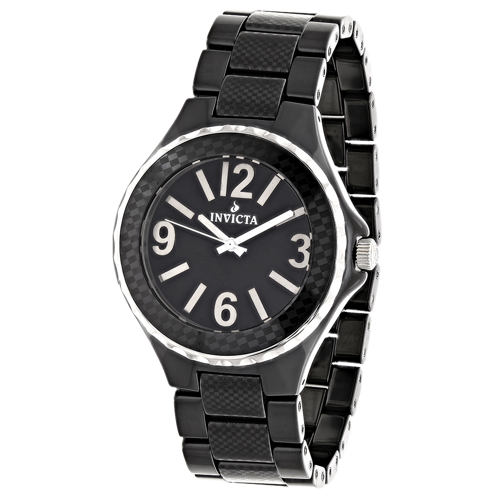 Ladies Watches Invicta Black Ceramic Watch 1185 Main Image