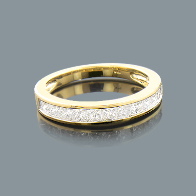 Thin Ladies Wedding Band with Princess Cut Diamonds 1.00ct 10K ladies-wedding-band-with-princess-cut-diamonds-100ct-10k_1