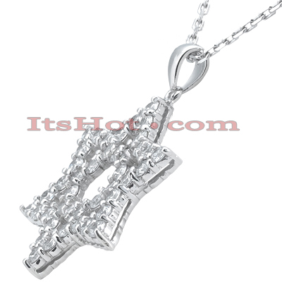 Large Diamond Star of David Necklace 4.20ct 14k Gold Main Image
