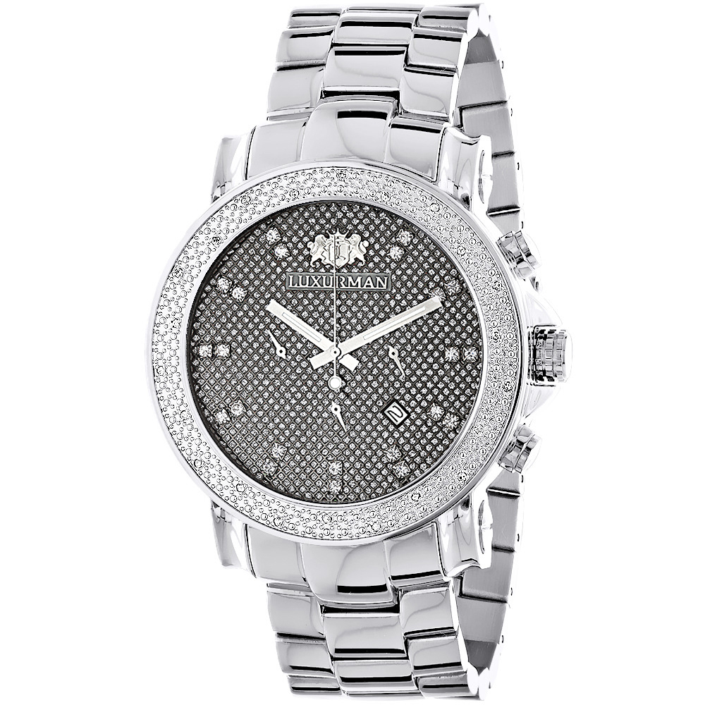 large face diamond watches for men oversized luxurman