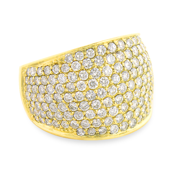 large pave diamond ring 3 5 ct statement jewelry wide