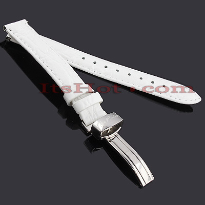 Leather Watch Bands: Joe Rodeo Watch Strap 14mm White Leather Watch Bands: Joe Rodeo Watch Strap 14mm White