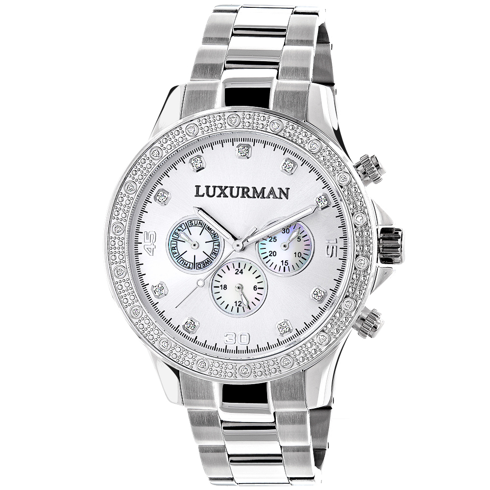 Luxurman Diamond Watch 0.2ct New Arrival Mens Watches