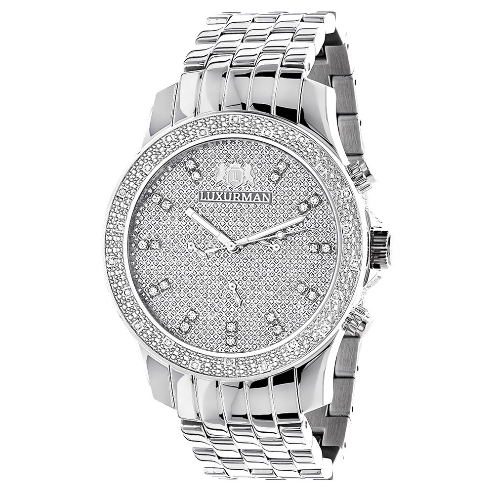 Luxurman Mens Diamond Watch 0.25 ct Main Image