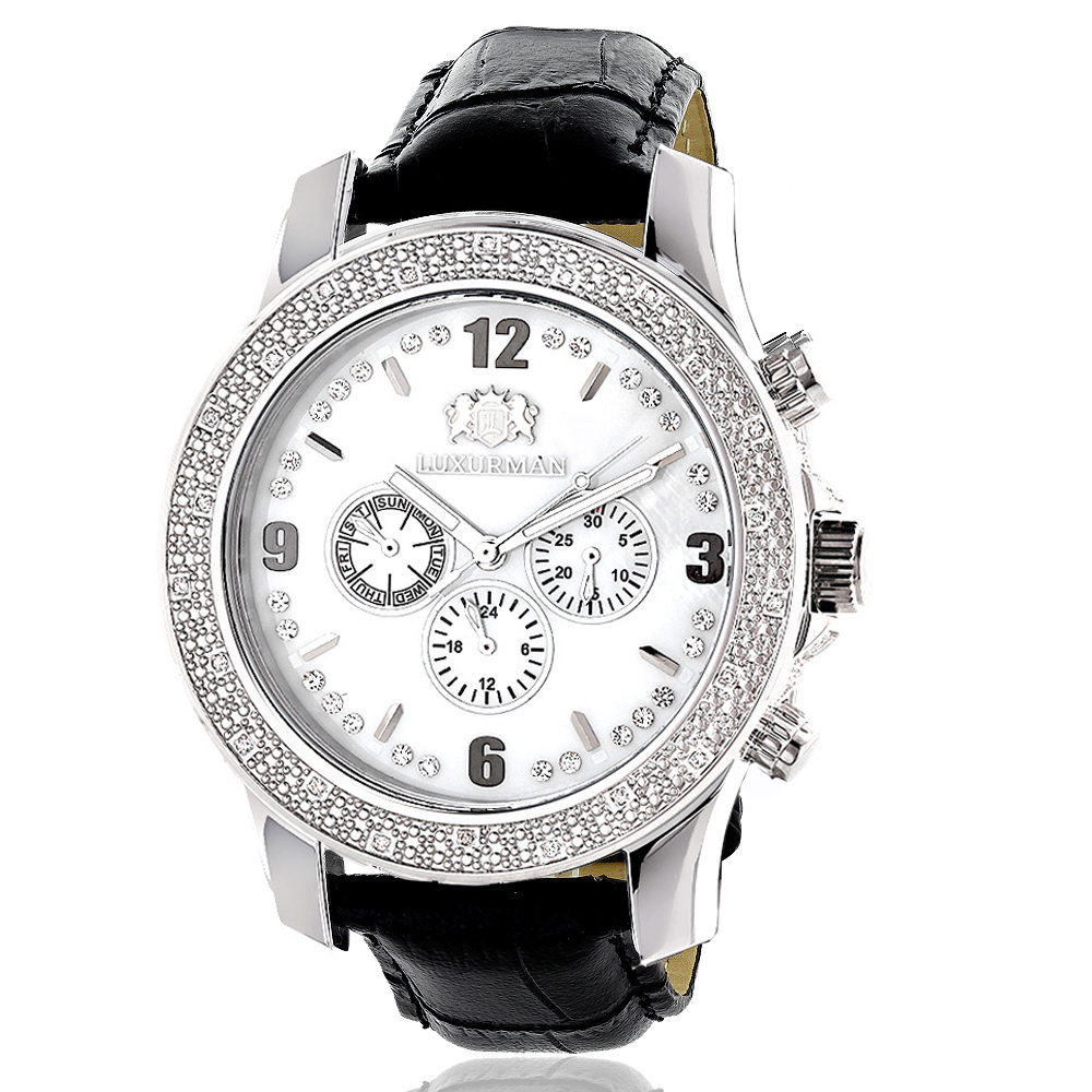 Luxurman Mens Diamond Watch 0.25ct Main Image