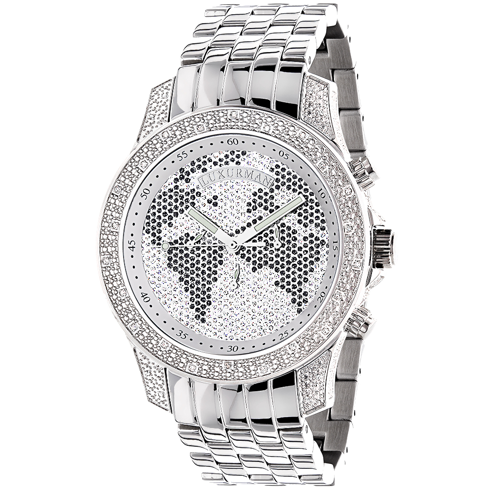Luxurman Mens Diamond Watch 0.50ct Main Image