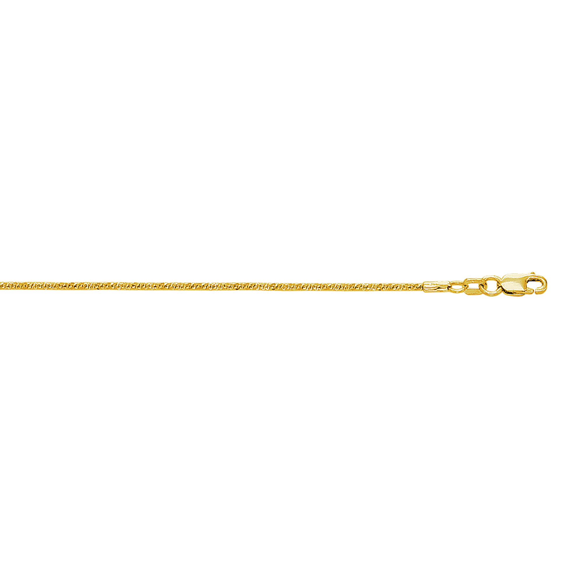 LUXURMAN Solid 10k Gold Sparkle Chain For Women 1.5mm Wide