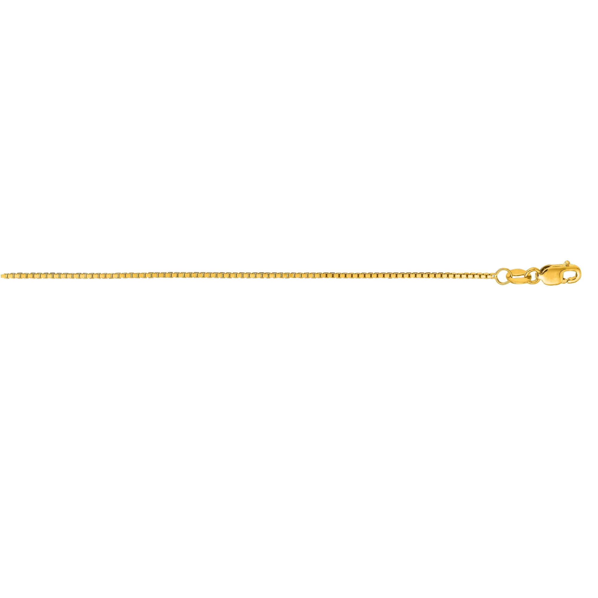 LUXURMAN Solid 14k Gold Box Chain For Men & Women Octagonal 1mm Wide Yellow Image
