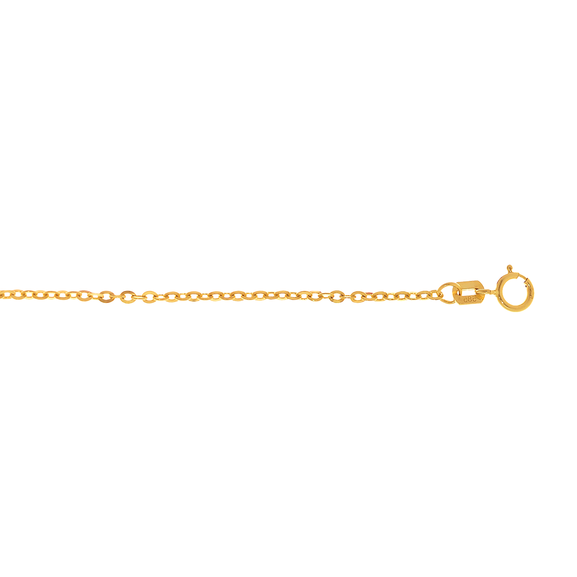 LUXURMAN Solid 14k Gold Cable Chain For Women Piatto 1.8mm Wide