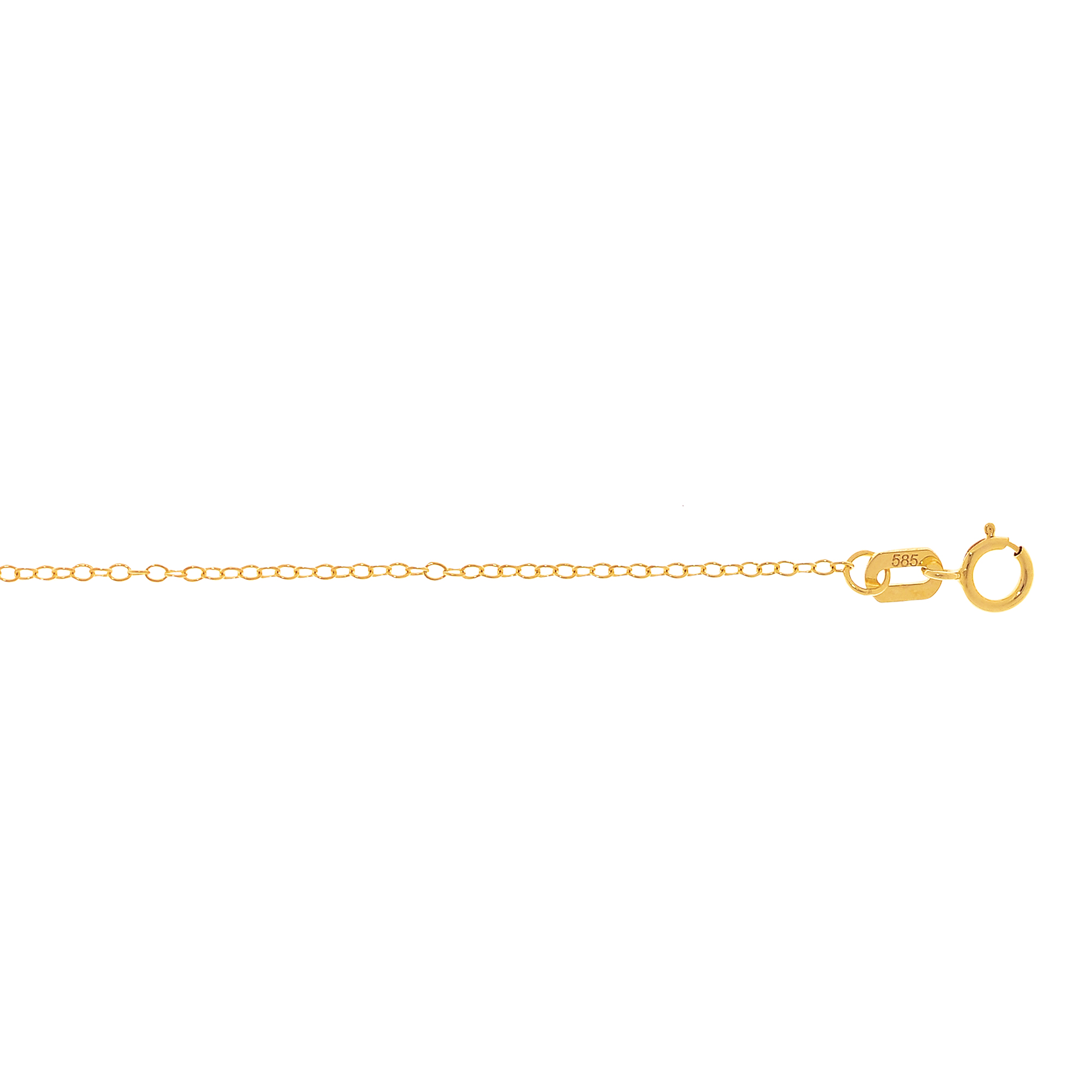 LUXURMAN Solid 14k Gold Cable Chain For Women Round 1.2mm Wide