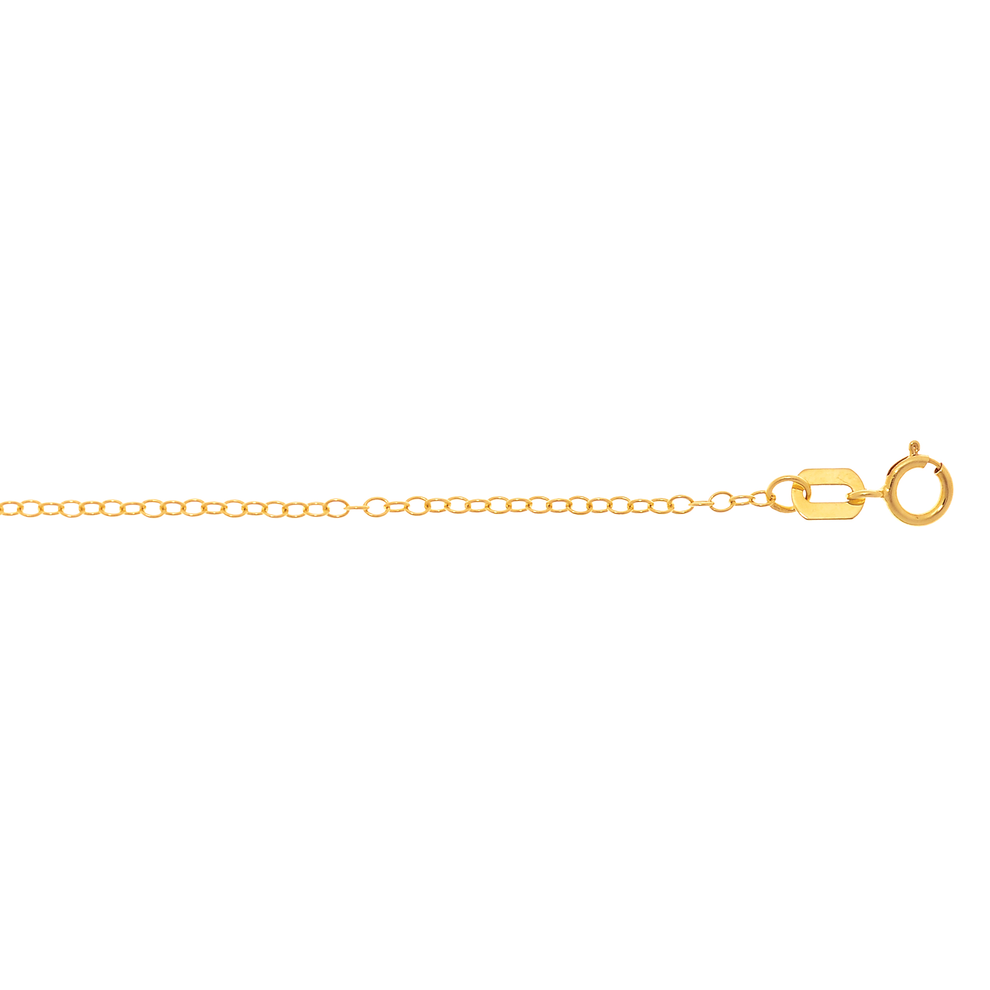 LUXURMAN Solid 14k Gold Cable Chain For Women Round 1.5mm Wide