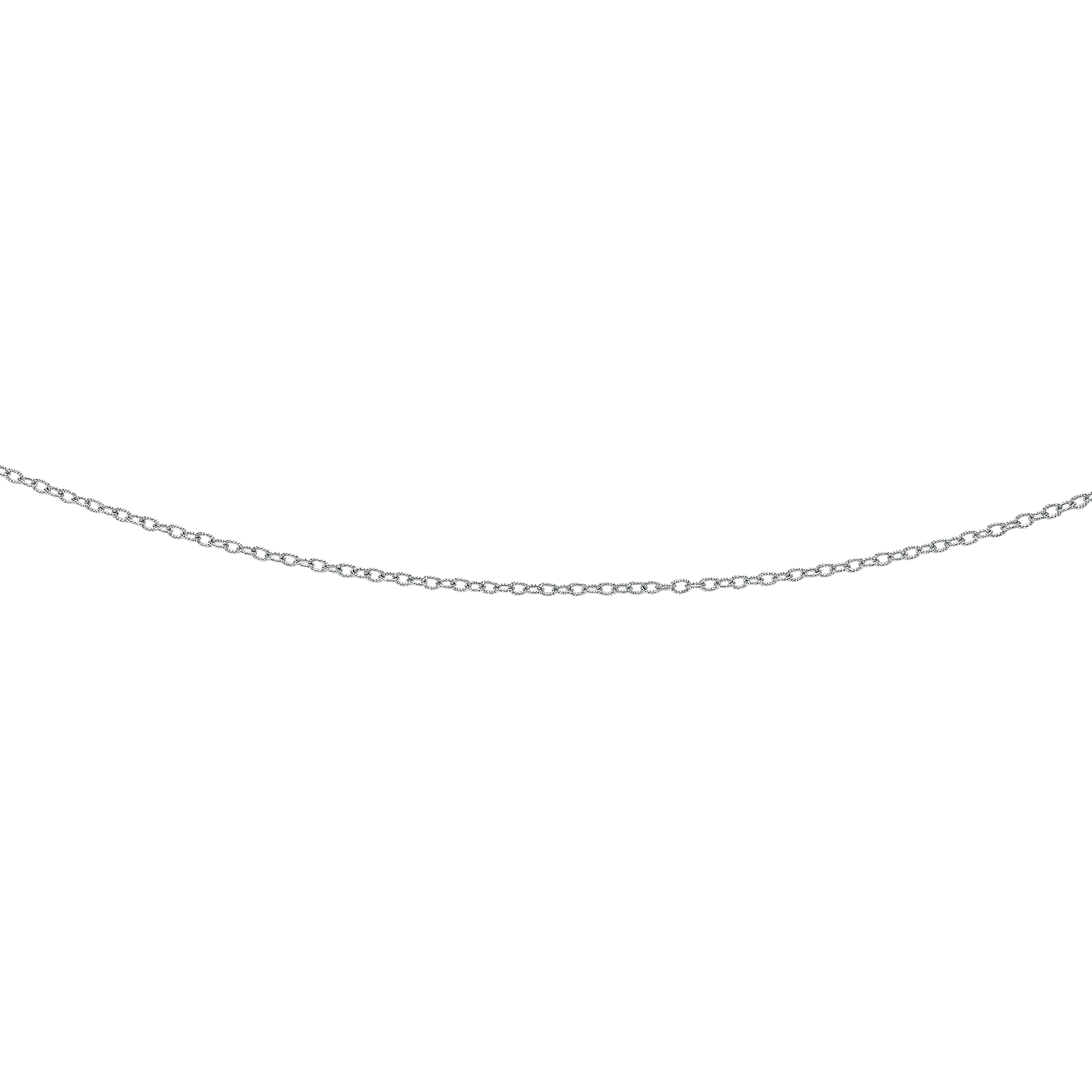 LUXURMAN Solid 14k Gold Cable Chain For Women Textured Link 2.5mm Wide