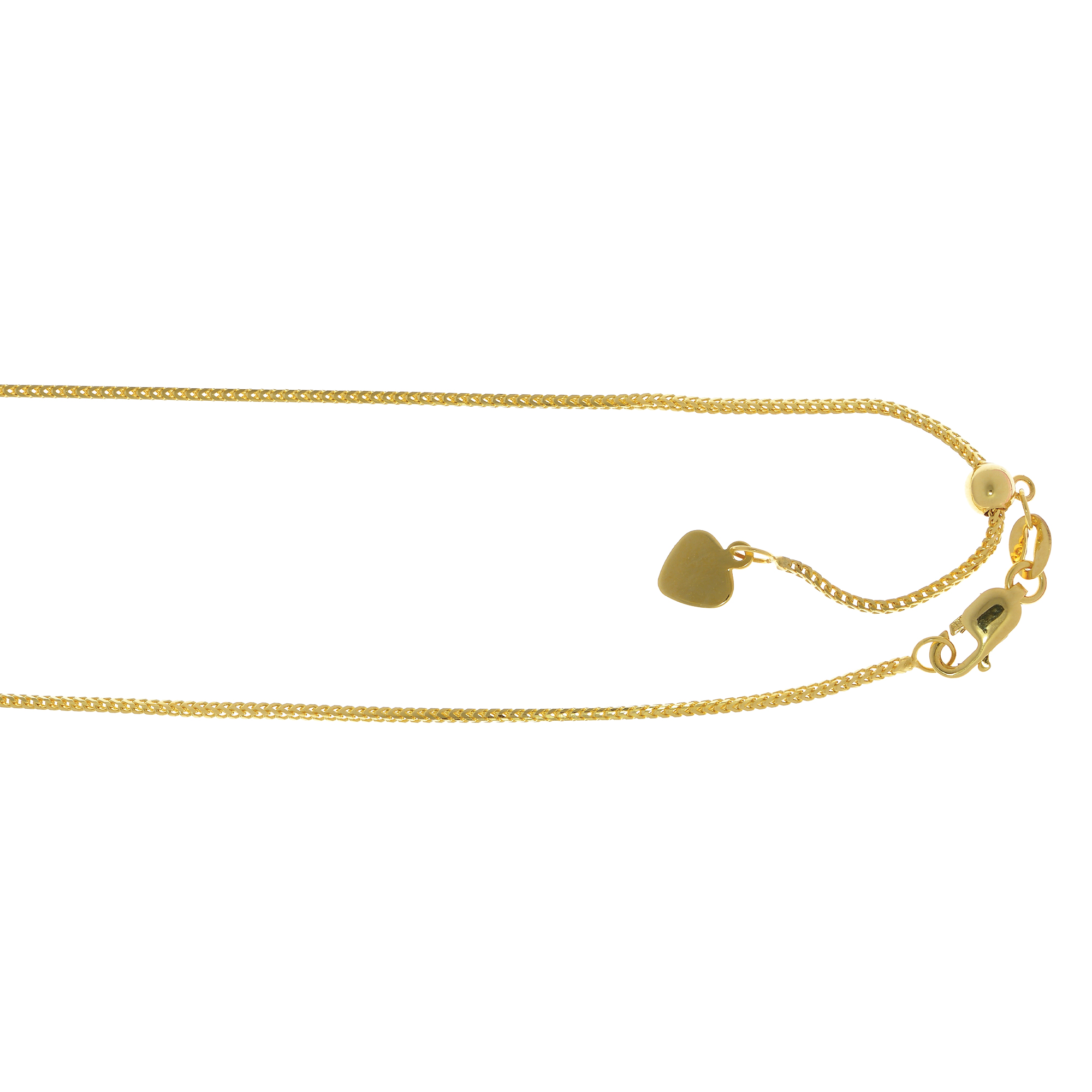 LUXURMAN Solid 14k Gold Franco Chain For Women Adjustable 0.9mm Yellow Image