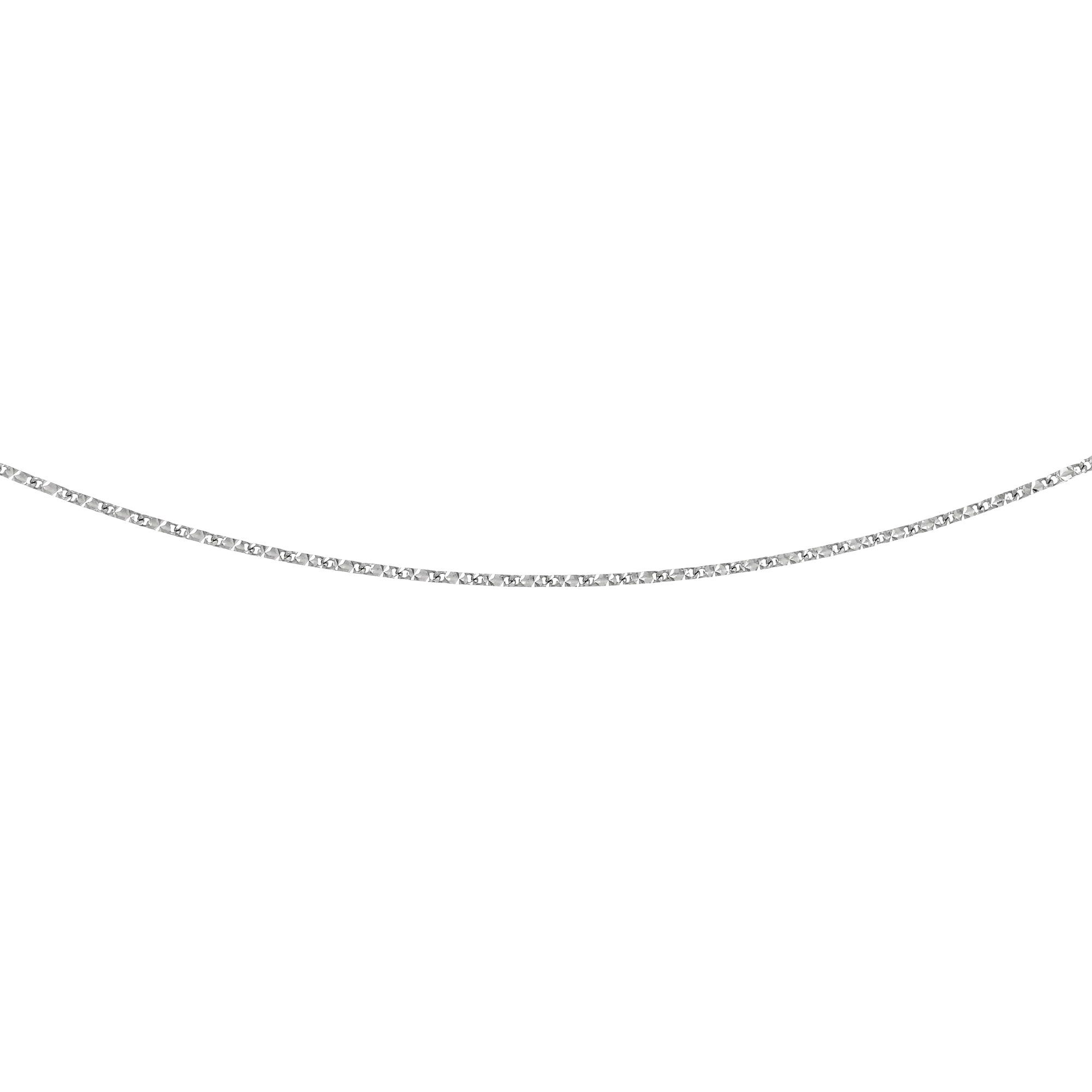 LUXURMAN Solid 14k Gold Raindrop Chain For Women 0.8mm Wide White Image