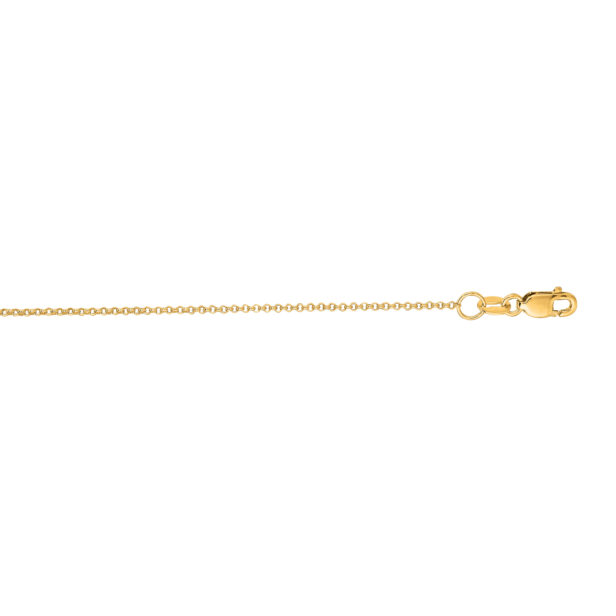 LUXURMAN Solid 14k Gold Rolo Chain For Men & Women Diamond Cut 1.1mm