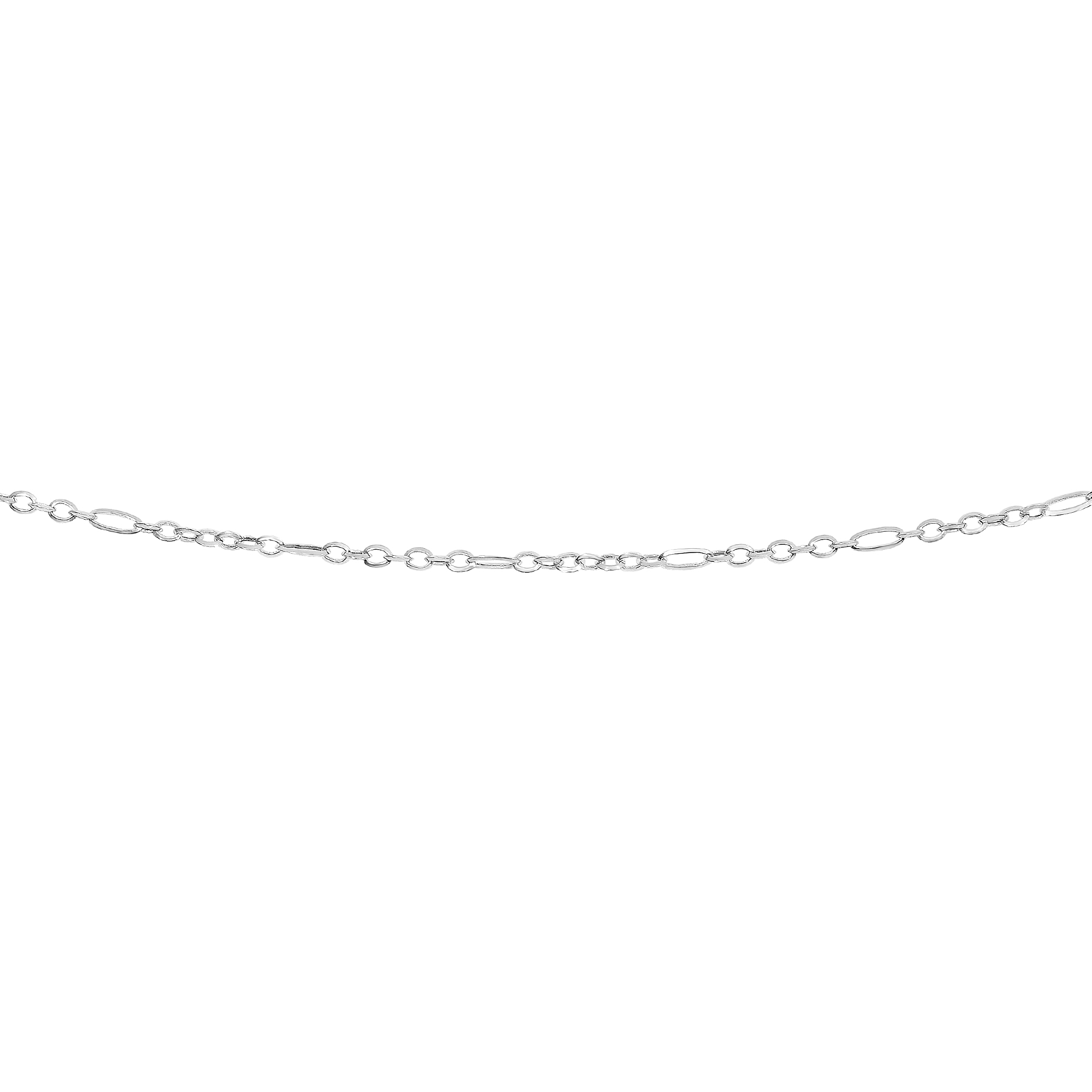 LUXURMAN Solid 14k Gold Rolo Chain For Women Polished Link 2.4mm Wide