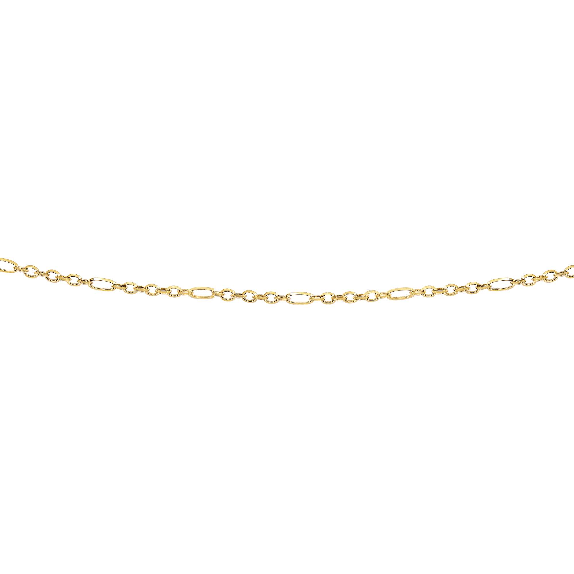 LUXURMAN Solid 14k Gold Rolo Chain For Women Polished Link 2.9mm Wide Yellow Image