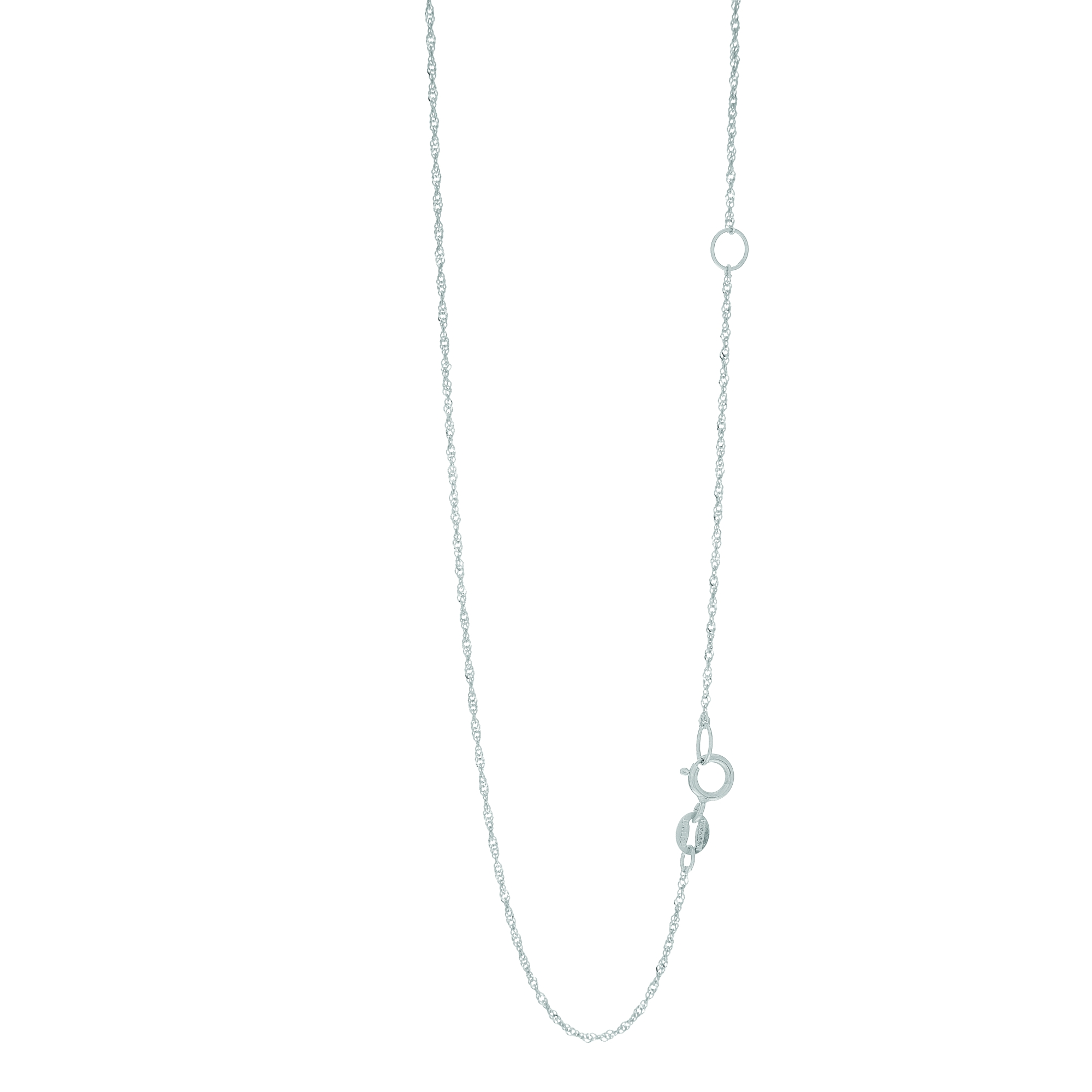 LUXURMAN Solid 14k Gold Singapore Chain For Women Extendable 1.1mm White Image