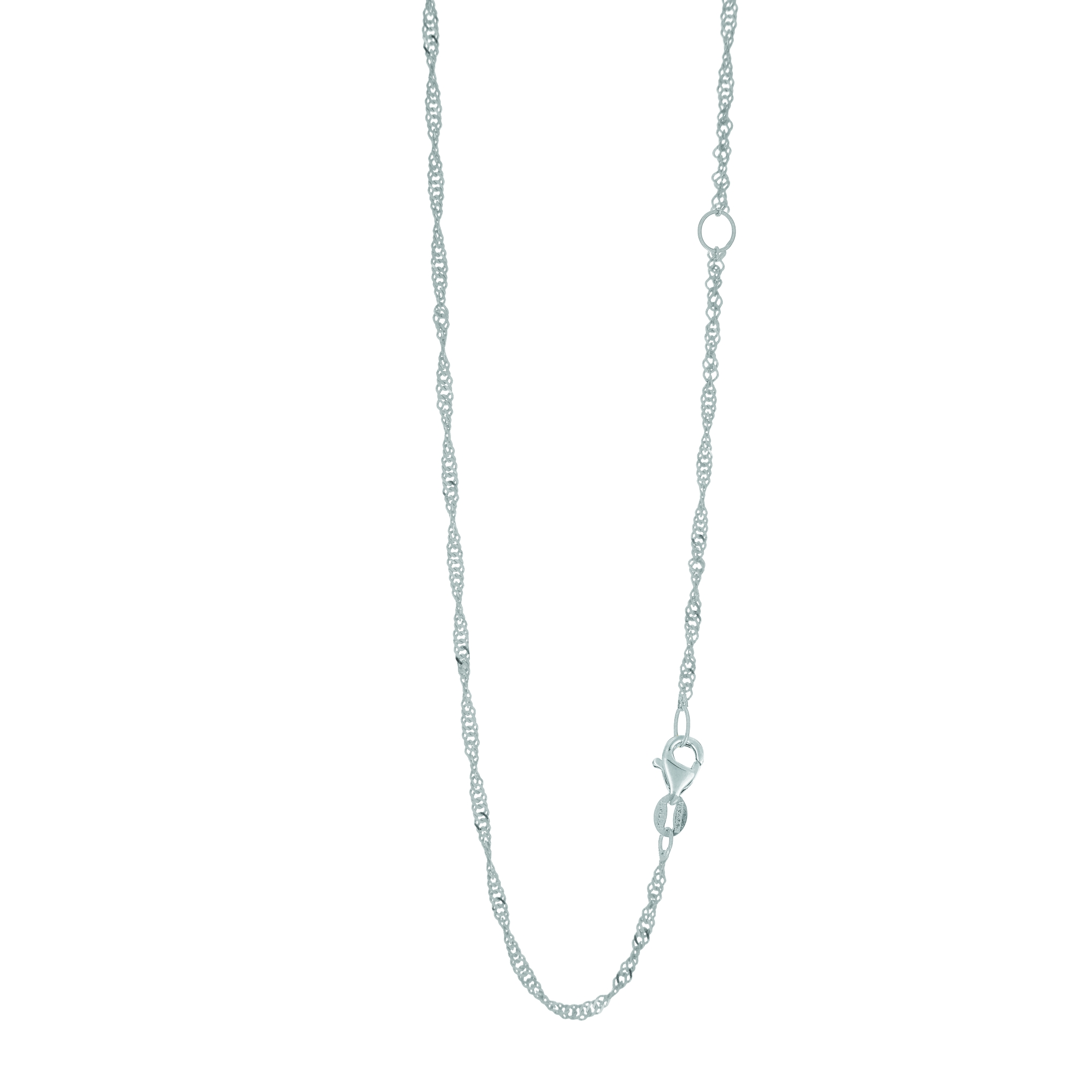 LUXURMAN Solid 14k Gold Singapore Chain For Women Extendable 1.7mm White Image