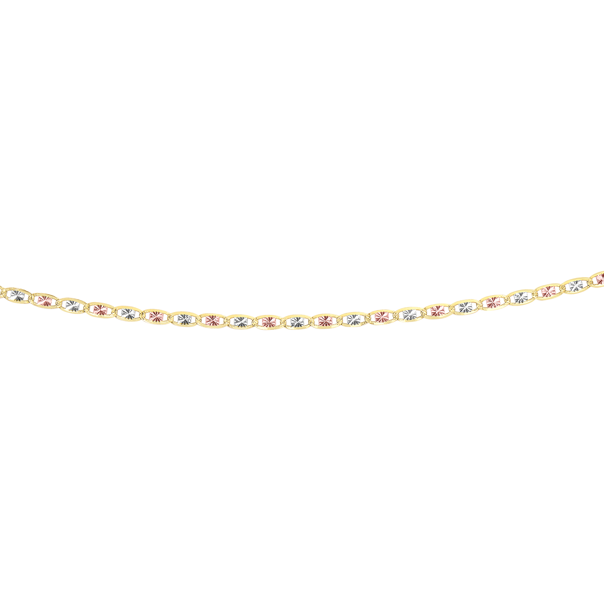 LUXURMAN Solid 14k Gold Valentino Chain For Women 2.6mm Wide