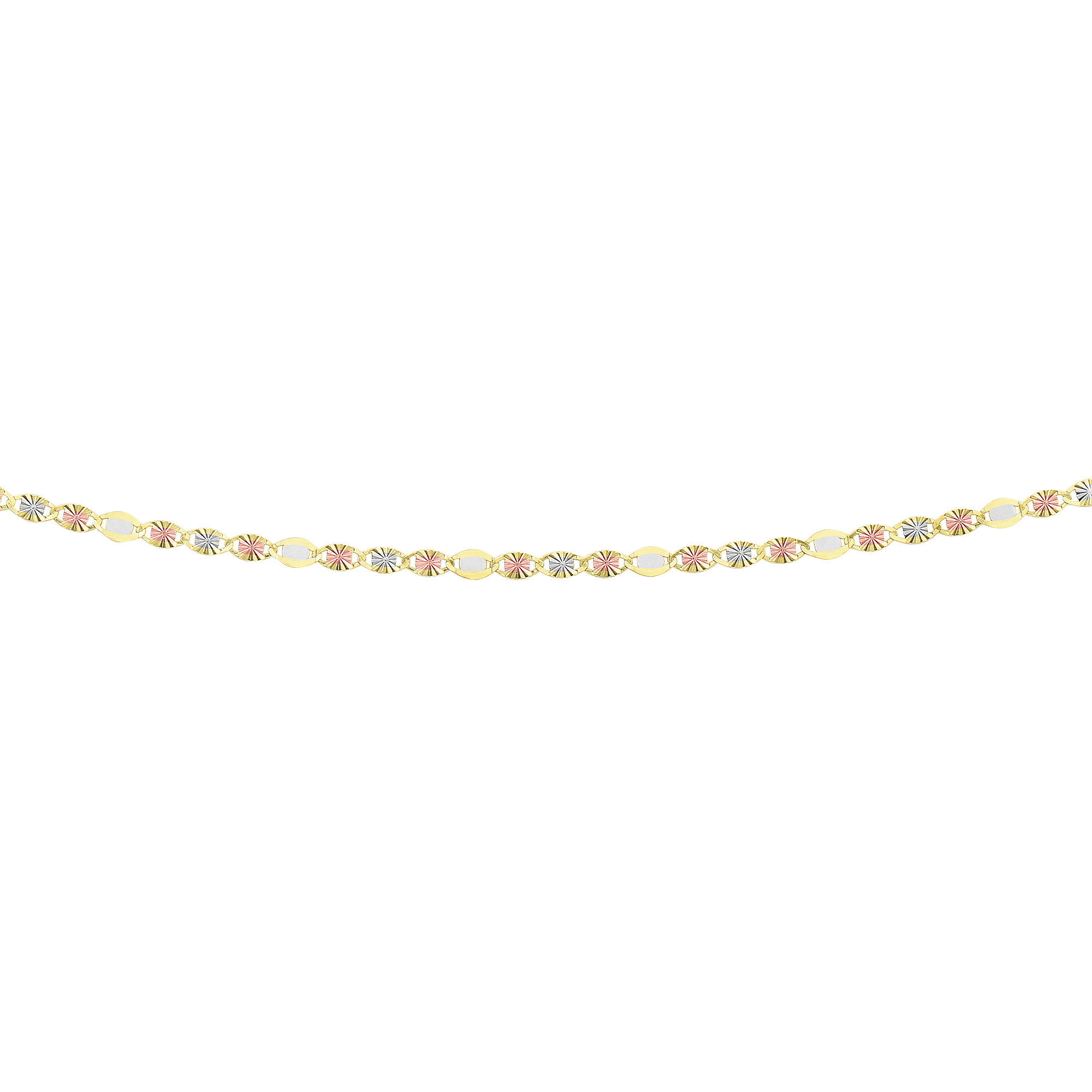 LUXURMAN Solid 14k Gold Valentino Chain For Women 2.8mm Wide