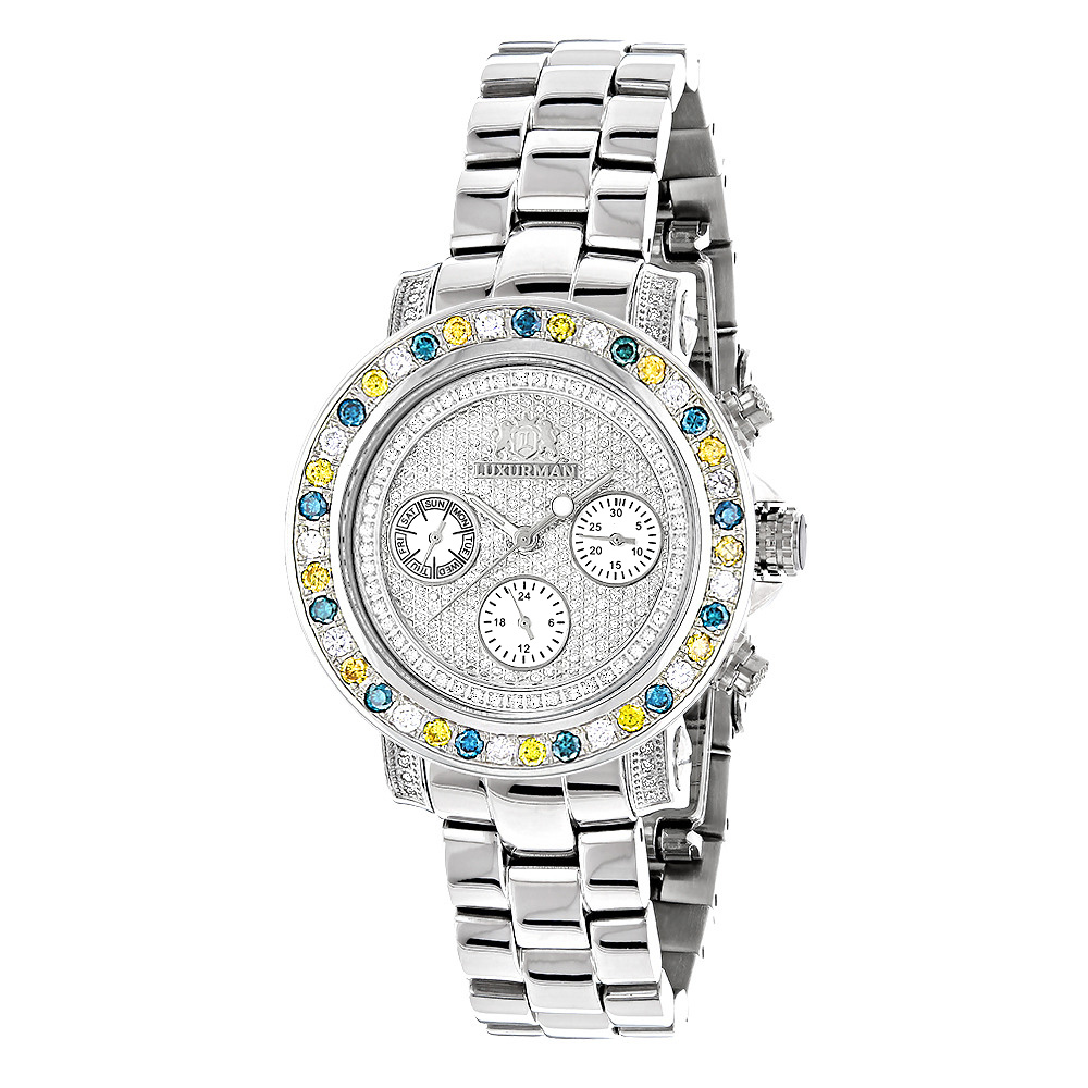 Luxurman Watches: Ladies Color Diamond Watch 2.75ct Main Image