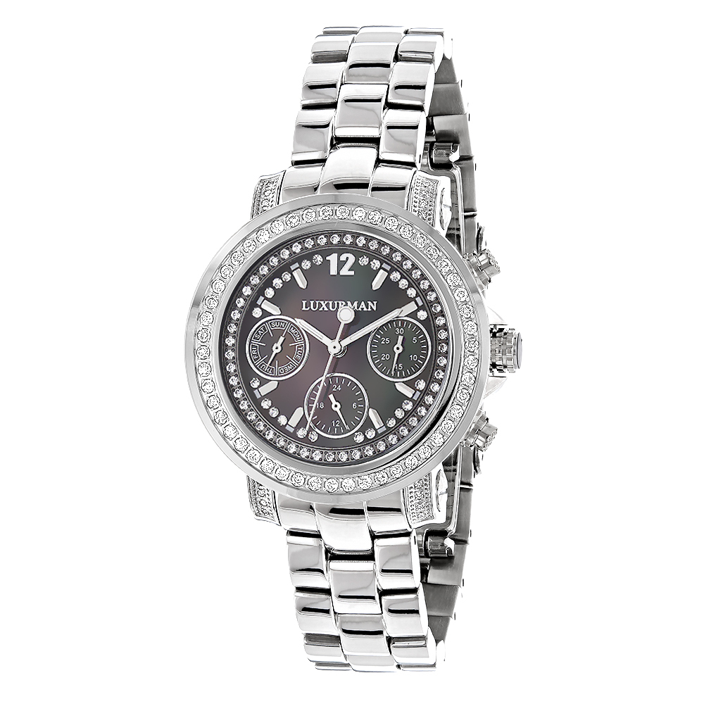 Luxurman Watches: Ladies Diamond Watch 2ct