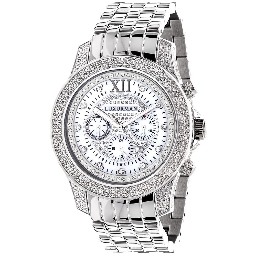 Luxurman Watches: Mens Diamond Watch 0.50ct Main Image