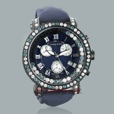 Luxury Benny Watches: Mens Floating Diamond Watch 7.50ct