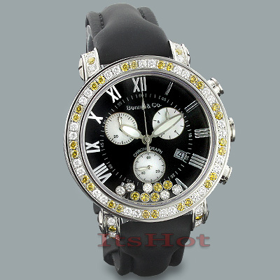 Luxury Watches: Mens Benny & Co Floating Diamonds Watch 3.50ct   Main Image
