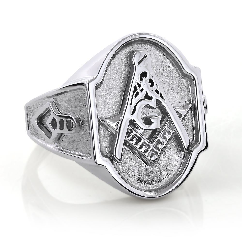 Masonic Jewelry: 14K Solid Gold Masonic Insignia Ring by Luccello