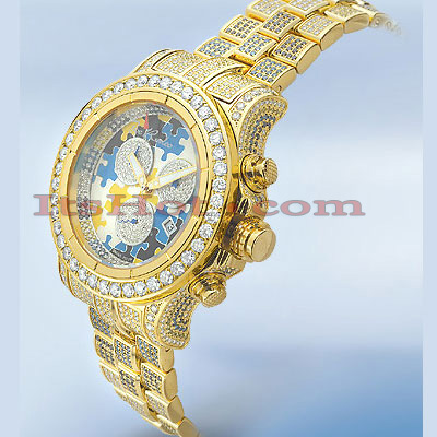 Master Piece Puzzle Diamond JoJo Watch Joe Rodeo 24ct Main Image