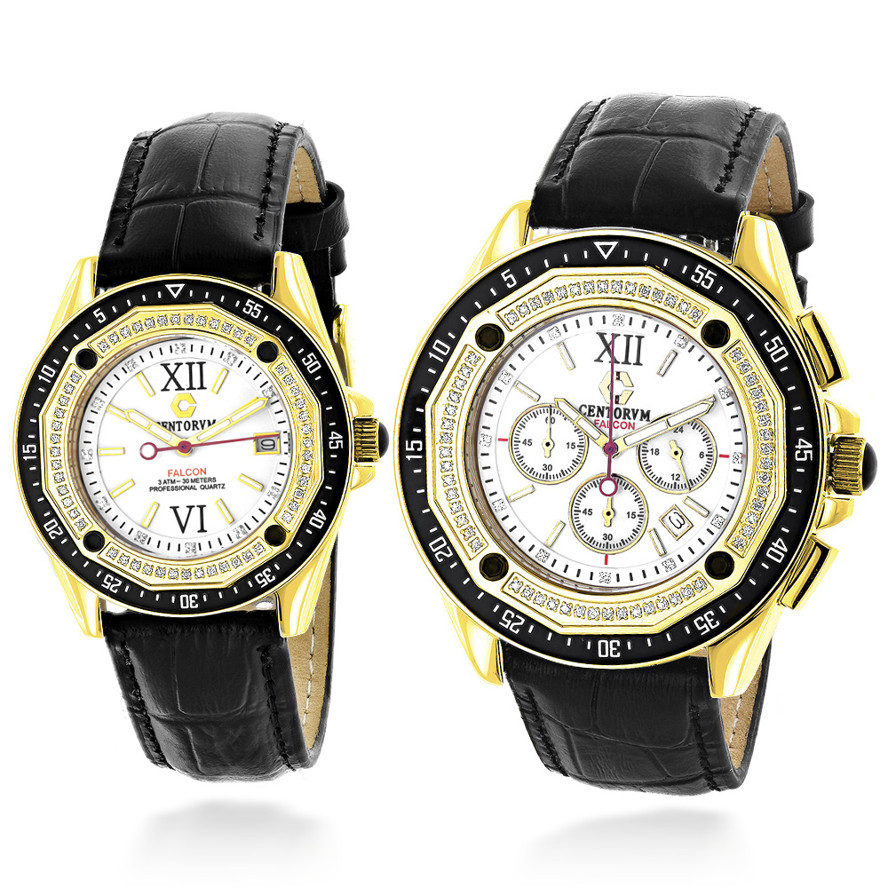 Matching His and Hers Watches: Centorum Diamond Watch Set: 1.05ct Main Image