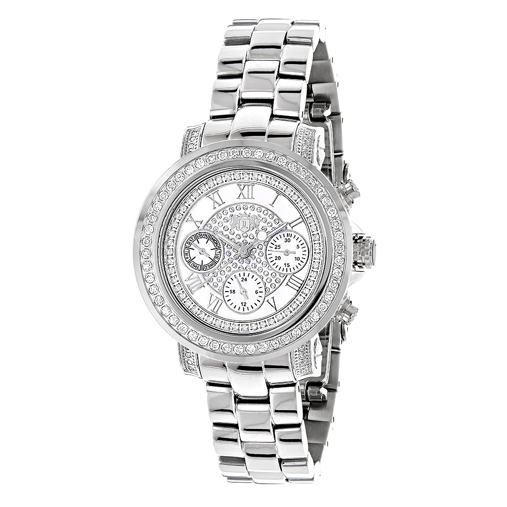 Mens and Ladies Diamond Watches: Luxuman Diamond Watch 2ct Main Image