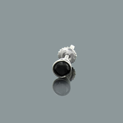 Mens Black Diamond Stud Earring 0.25ct 14K Gold Main Image