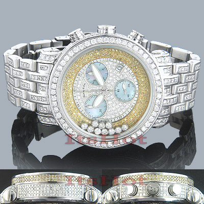 Mens Custom Benny Floating Diamond Watch 22ct Main Image